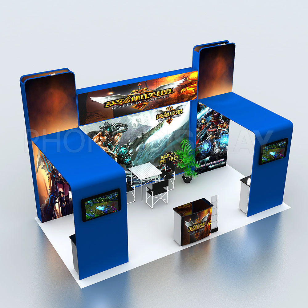 3x6m modular portable booth/ H style
