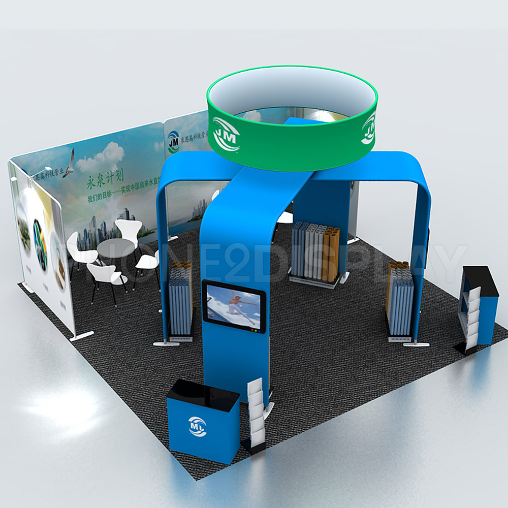 6x6m modular portable booth/Bridge design