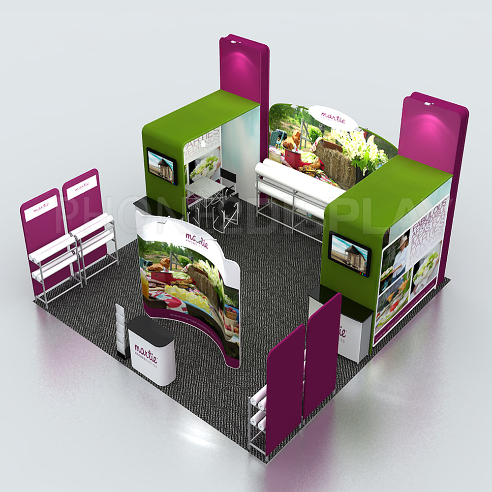 6x6m modular portable booth/Tower design