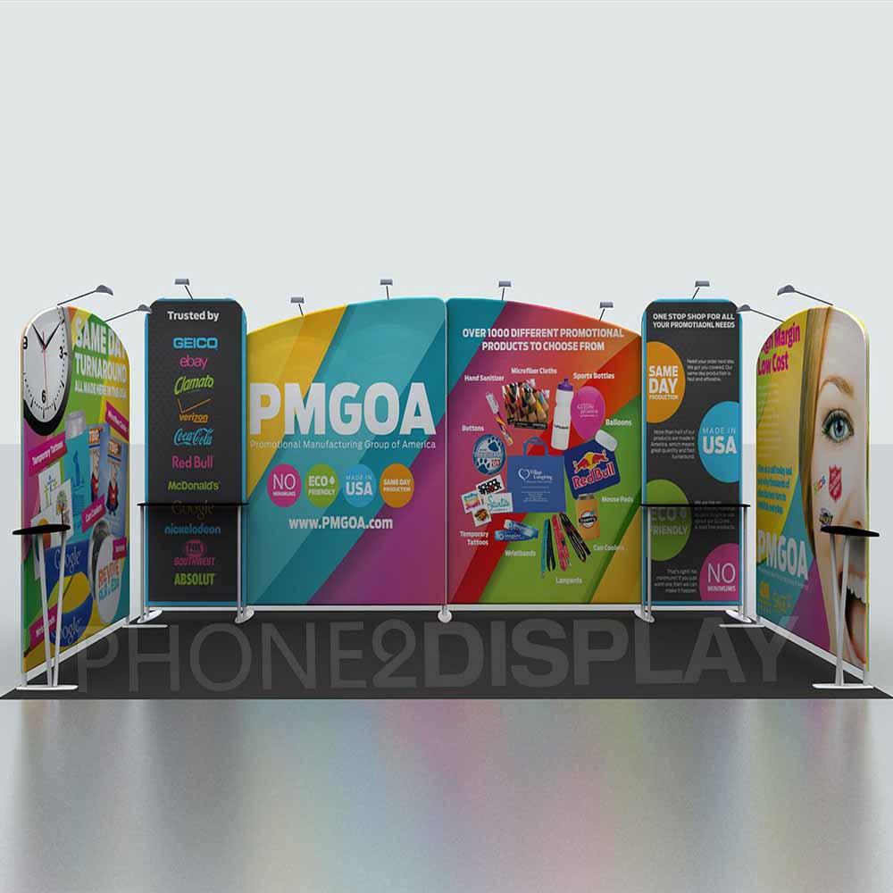 3x6m modular portable booth/U style