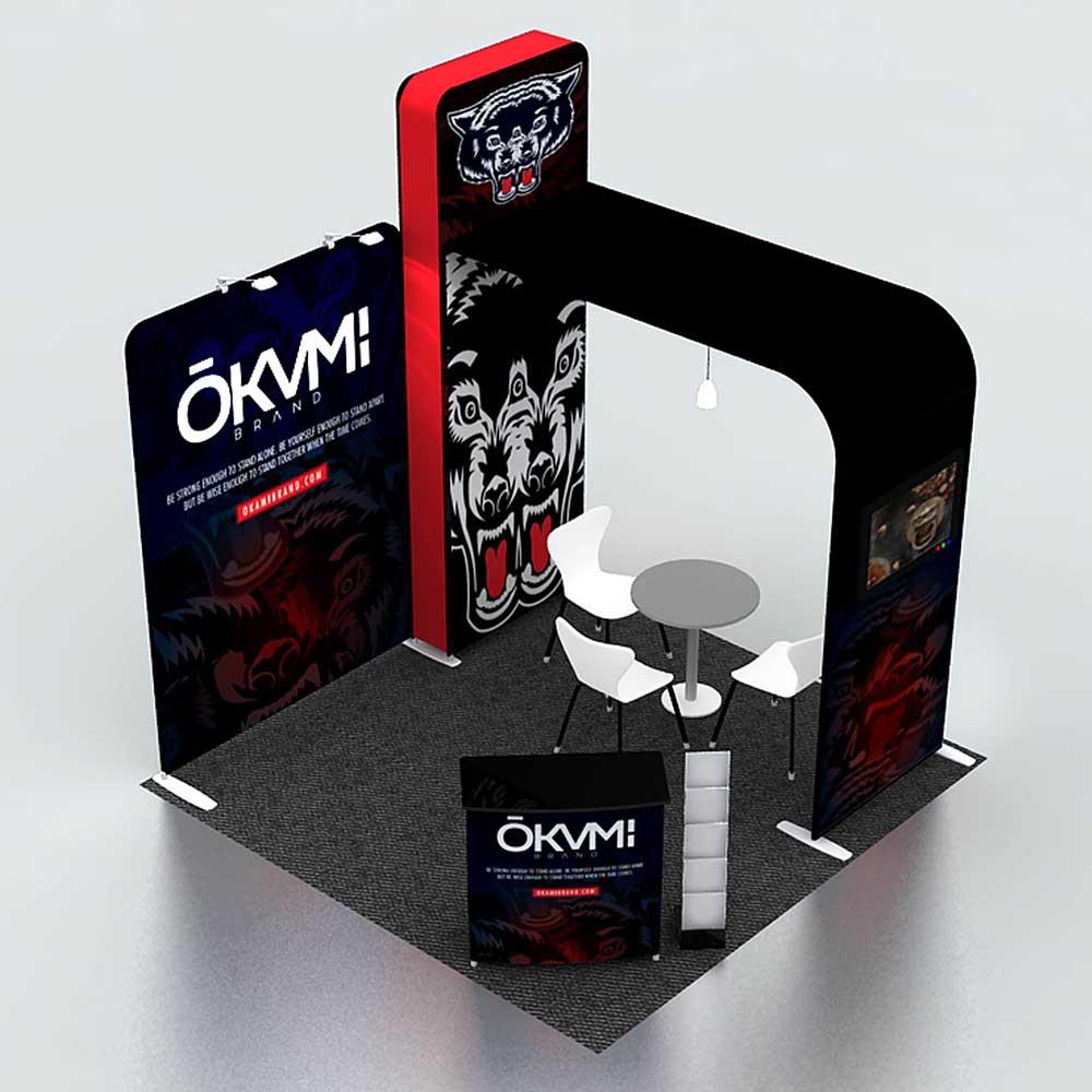 3x3m modular portable booth
