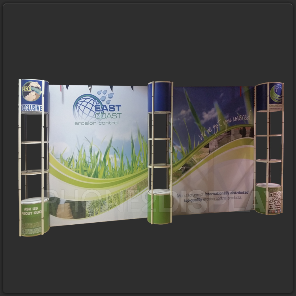 20FT pop up showcase booth/dropback wall
